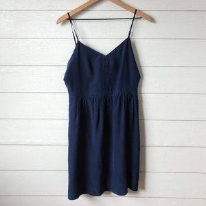 Madewell Navy Blue Silk Cami Dress Size 6